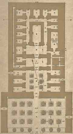 Plan of the Great Temple at Dendera.