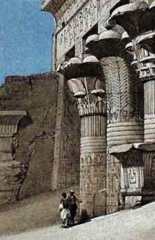 Columns at Edfu (detail), by David Roberts