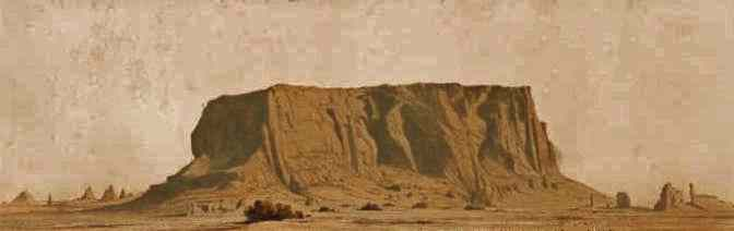 steep-sided Gebel Barkal rises from the desert