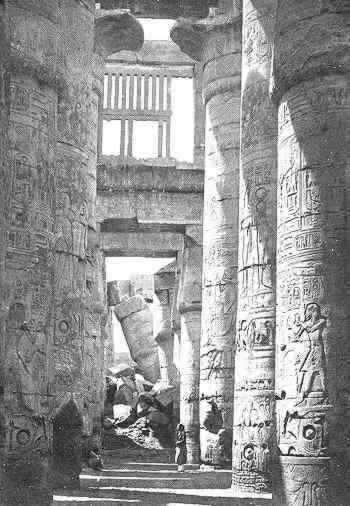 The great columns of Karnak