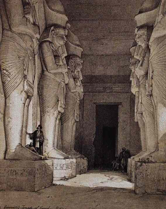 The great statues fill the underground hall at Gerf Husein.